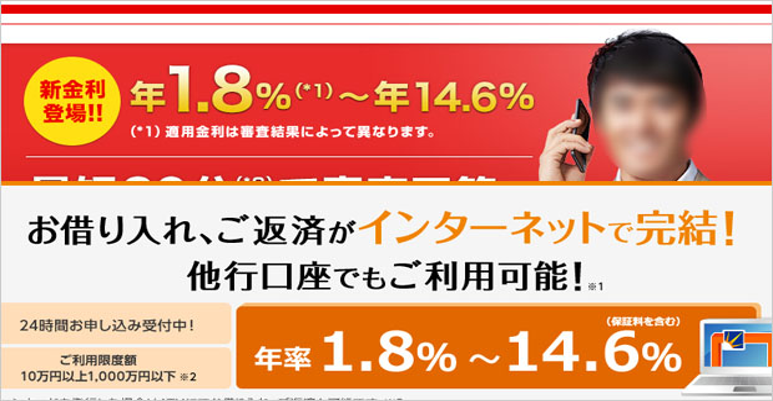 金利14.6%